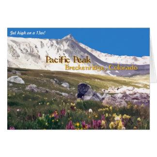 太平洋のピーク- BreckenridgeのCOの挨拶状 カード