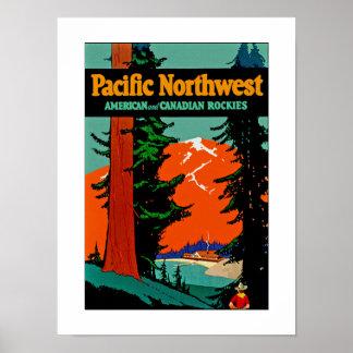 太平洋の北西 ポスター