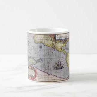 太平洋の地図 コーヒーマグカップ