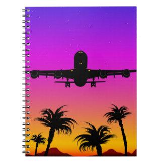 太平洋の平らなノート ノートブック