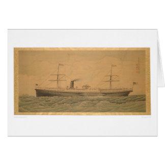 太平洋の汽船サクラメント(1607A) カード