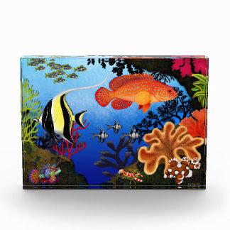 太平洋の珊瑚礁のアクアリウムの魚賞 表彰盾