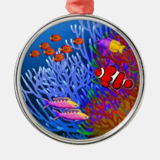 太平洋の珊瑚礁の魚のオーナメント メタルオーナメント