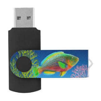 太平洋の珊瑚礁のParrotfish USBのフラッシュドライブ USBフラッシュドライブ