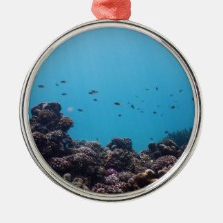 太平洋の珊瑚礁 メタルオーナメント