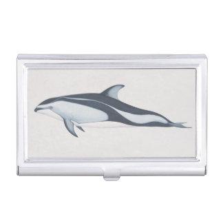 太平洋の白味方されたイルカ 名刺入れ