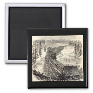 太平洋の鉄道のトレッスル橋 マグネット