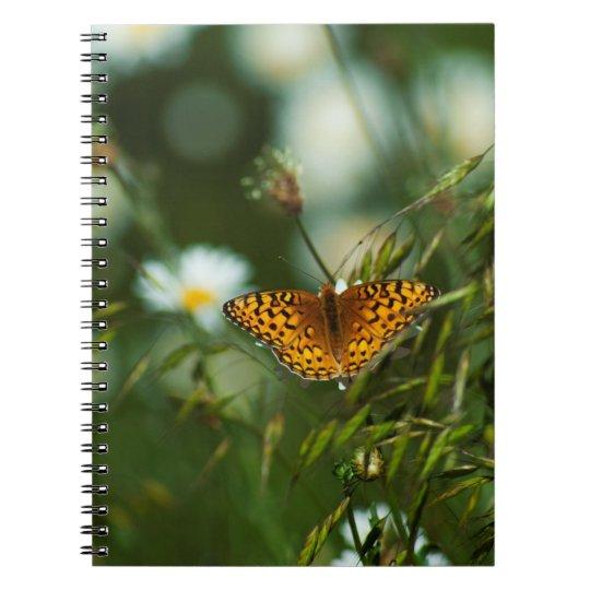 太平洋のFritillaryの蝶 ノートブック