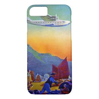 太平洋を横断する旅行堅いiPhone 7の場合 iPhone 8/7ケース