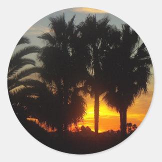 太平洋沿岸の日没 ラウンドシール