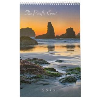 太平洋沿岸2015年-シールおよびScenics カレンダー