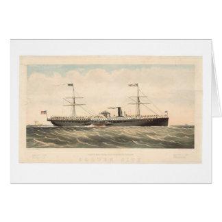 太平洋郵便蒸気の船Coの金都市(0640A) カード