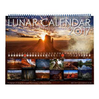太陰暦2017の月段階の天文学のカレンダー カレンダー