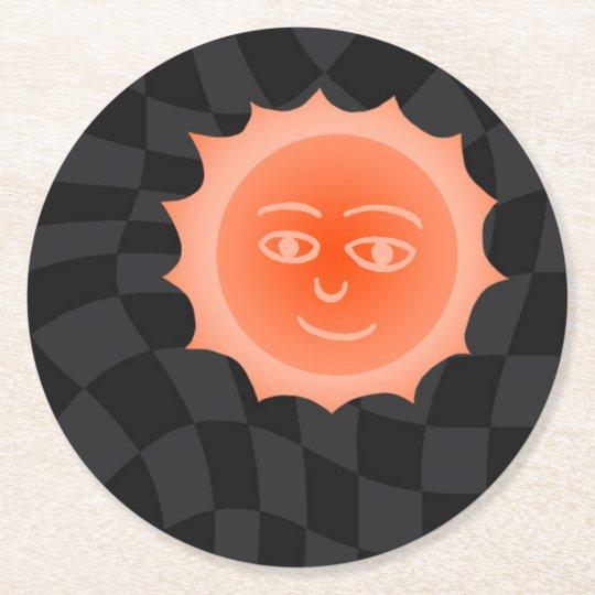 太陽さん ラウンドペーパーコースター