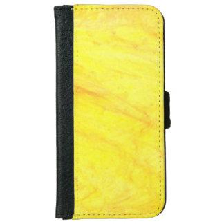 太陽ので黄色いビーガンの革iPhoneのウォレットケース iPhone 6/6s ウォレットケース