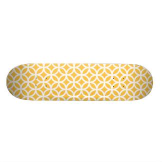 太陽ので黄色い幾何学的 21.6CM オールドスクールスケートボードデッキ
