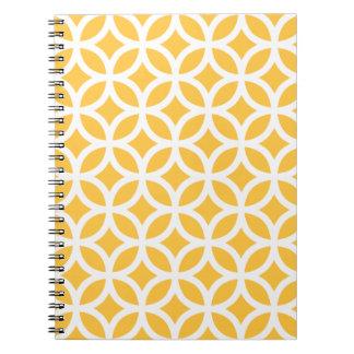 太陽ので黄色く幾何学的なメモ帳 ノートブック