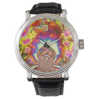太陽のなヒマワリ分野 腕時計