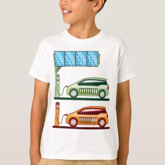 太陽のな充満場所の電気自動車 Tシャツ