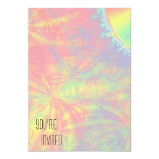 太陽のな破烈、フラクタルの芸術。 多彩 カード