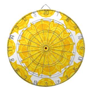 太陽のな網状組織のチャクラの曼荼羅 ダーツボード