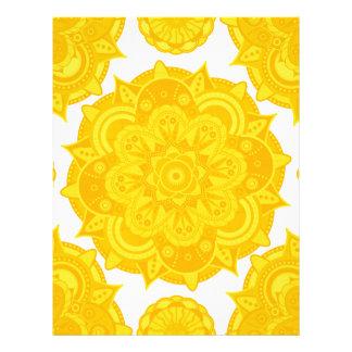 太陽のな網状組織のチャクラの曼荼羅 レターヘッド
