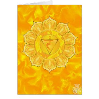 太陽のな網状組織のチャクラの空白のなカード カード