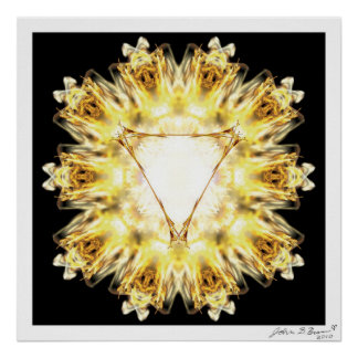 太陽のな網状組織のチャクラ ポスター