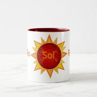 太陽のに行って下さい ツートーンマグカップ