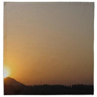 太陽の上昇の太陽セット ナプキンクロス