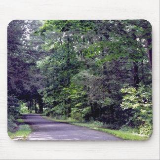 太陽まだらにされた森林- mousepad マウスパッド