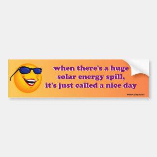 太陽エネルギーのこぼれ バンパーステッカー