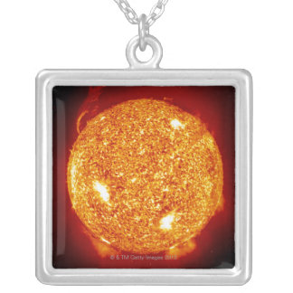 太陽フレアとの日曜日 シルバープレートネックレス
