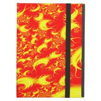 太陽フレアの赤く黄色い螺線形のフラクタル iPad AIRケース