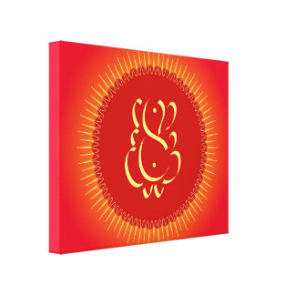 太陽光線を持つ神Ganesha キャンバスプリント