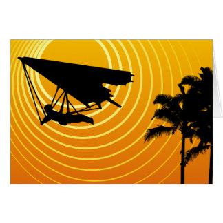 太陽場面ハンググライダー カード