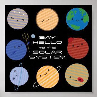 太陽系に挨拶して下さい! ポスター