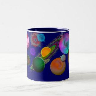 太陽系のデザインのマグ ツートーンマグカップ