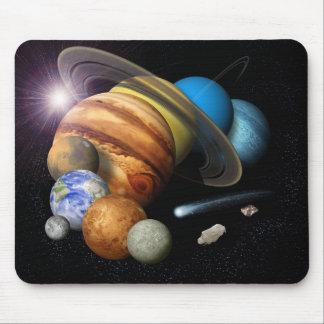 太陽系のモンタージュ マウスパッド