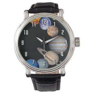 太陽系のモンタージュJPLの惑星の写真 腕時計