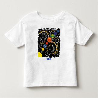 太陽系の惑星の宇宙天文学 トドラーTシャツ