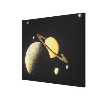 太陽系の惑星の眺め キャンバスプリント