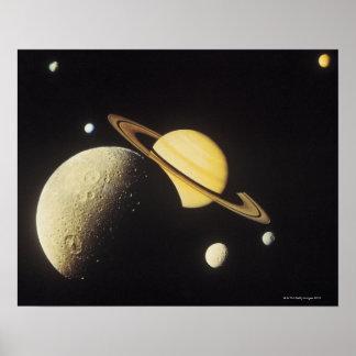 太陽系の惑星の眺め ポスター