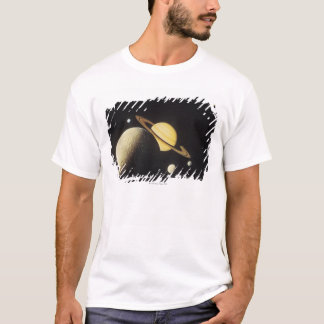 太陽系の惑星の眺め Tシャツ