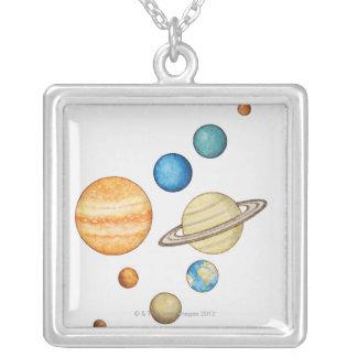 太陽系の惑星の絵 カスタムジュエリー