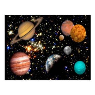 太陽系の惑星の郵便はがき ポストカード
