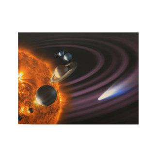 太陽系の惑星 ウッドポスター