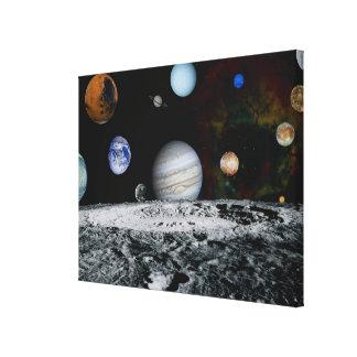 太陽系の惑星 キャンバスプリント
