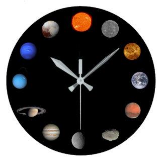 太陽系の柱時計 ラージ壁時計