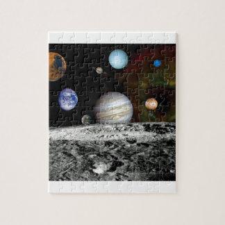太陽系の航海者のイメージのモンタージュの宇宙の写真 ジグソーパズル